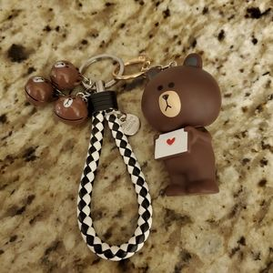 Cute bear keychain holder